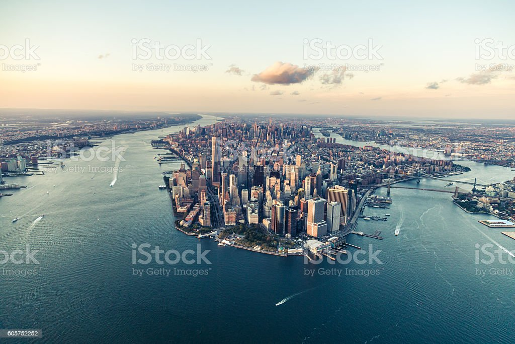 New York, City of Dreams, at Dusk stock photo
