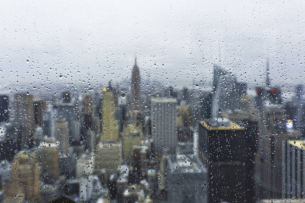 New York City on Rainy Day stock photo