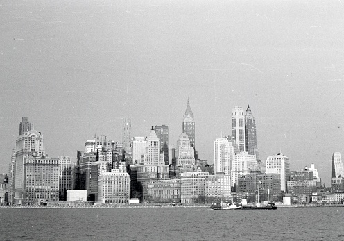 New York City, NYS, USA, 1950. New York City Skyline, Panorama.