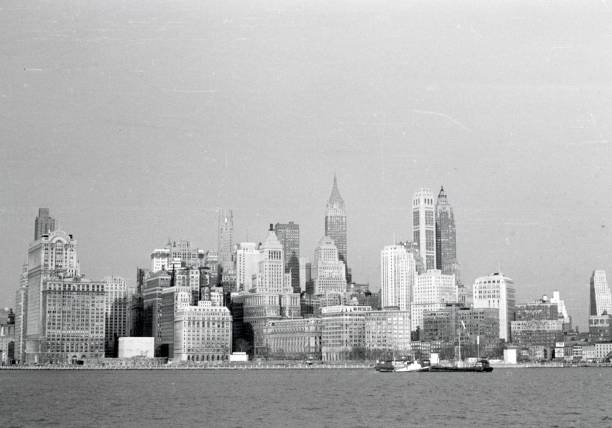 New York City Panorama, 1950 New York City, NYS, USA, 1950. New York City Skyline, Panorama. 20th century history stock pictures, royalty-free photos & images