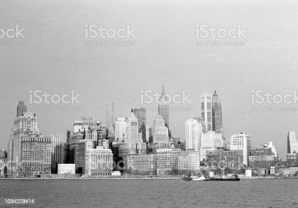 New York City Panorama 1950 Stock Photo - Download Image Now