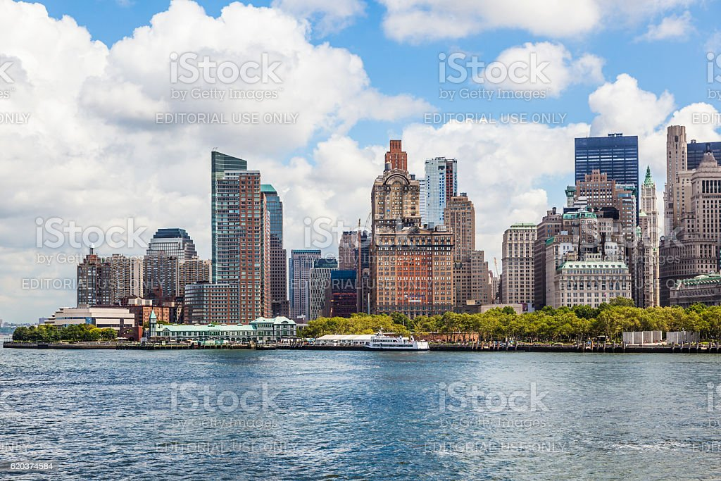 panorama Nowego Jorku z panoramę Manhattanu zbiór zdjęć royalty-free