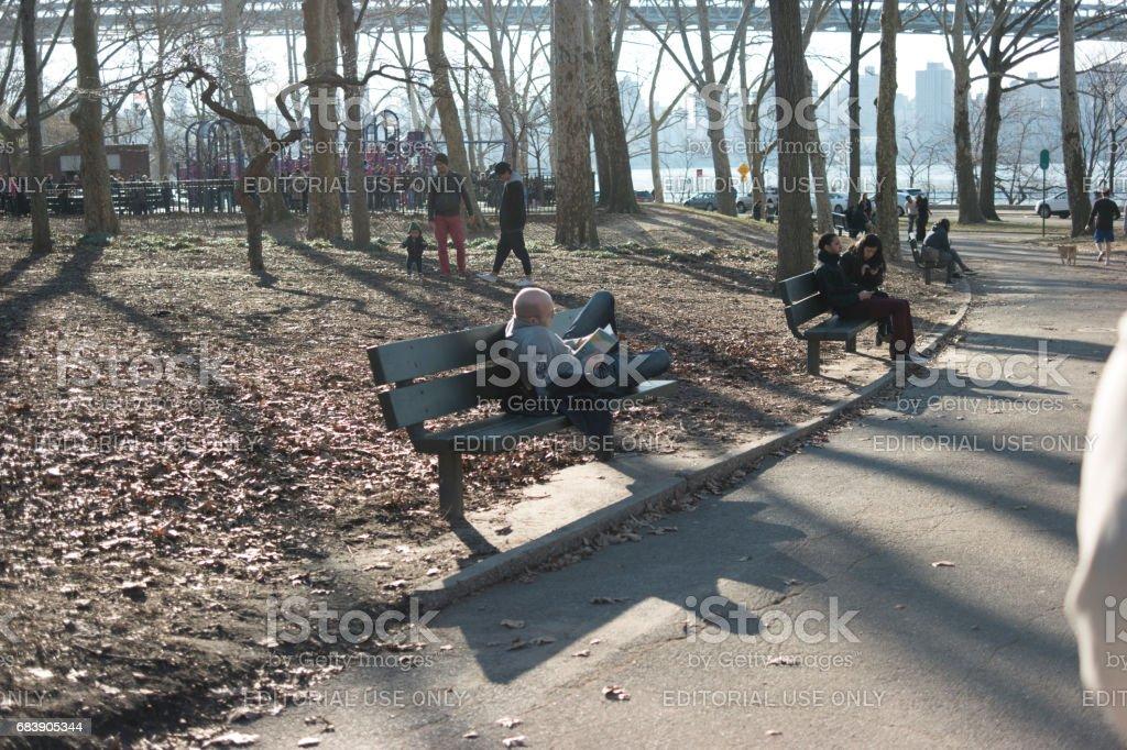 New York City park stock photo