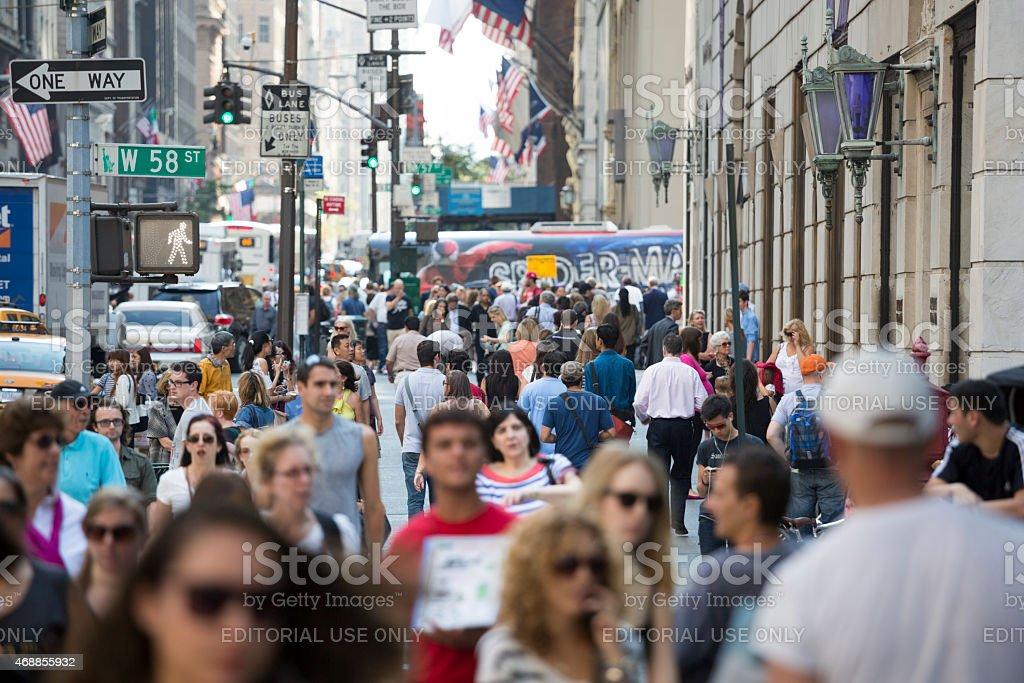 New York City Pedestrians on a Summer Day stock photo
