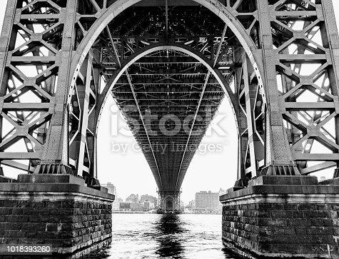 Underneath the Williamsburg Bridge in Lower Manhattan.