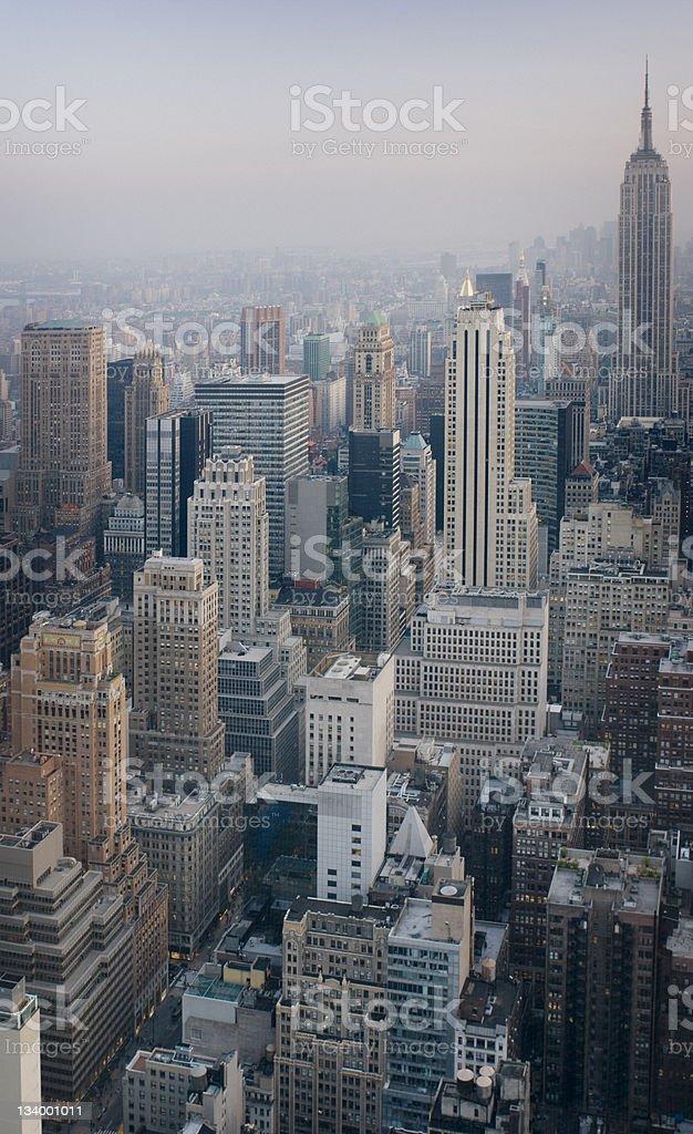 New York City New York City at dusk City Stock Photo