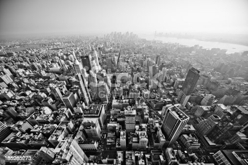 View on New York City  from the Empire State Building.