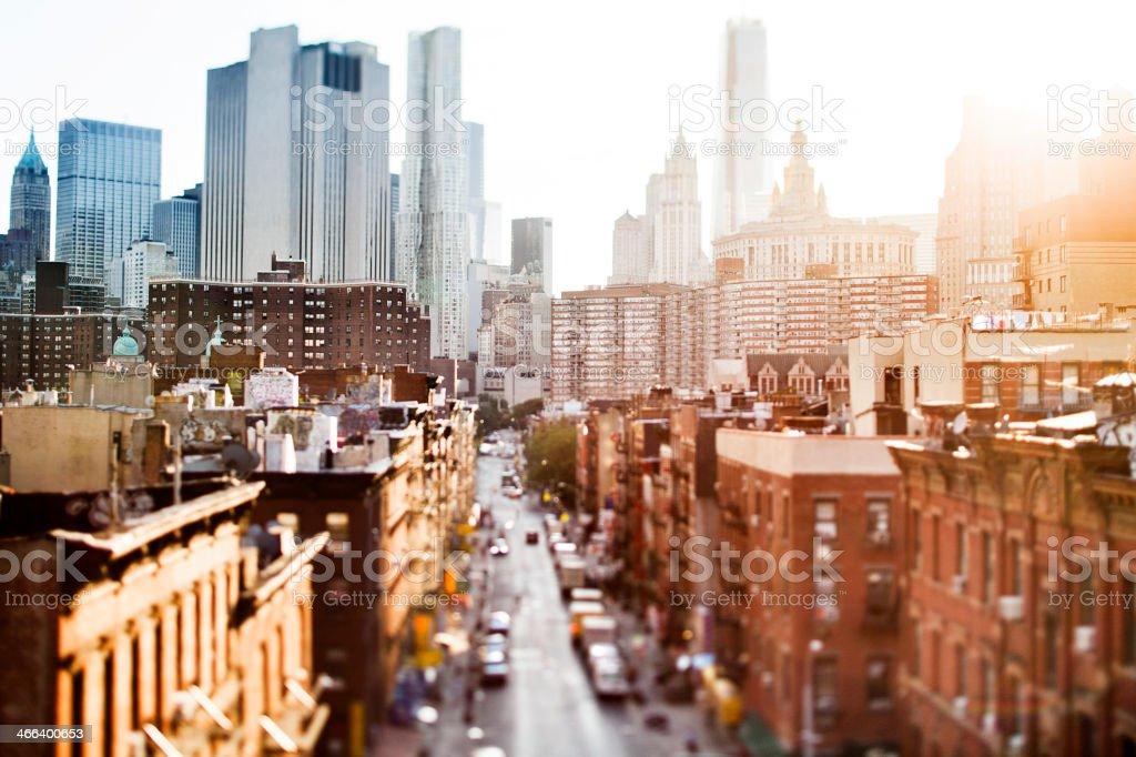 La ciudad de Nueva York foto de stock libre de derechos