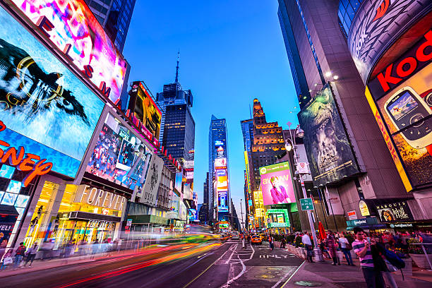 new york city - times square stock photos and pictures