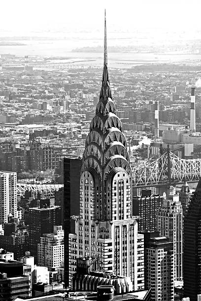 new york city - chrysler building stock photos and pictures