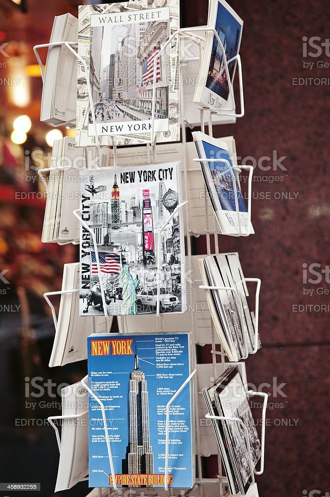 New York City postcards on a rack royalty-free stock photo