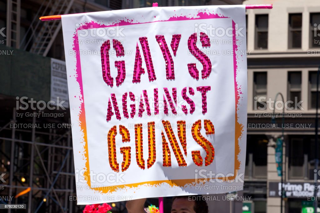 New York City Pride Parade - Gays Against Guns stock photo