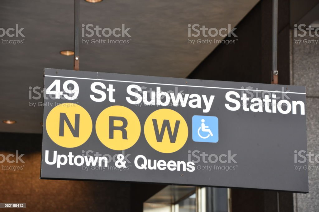 New York City Railway Station sign stock photo