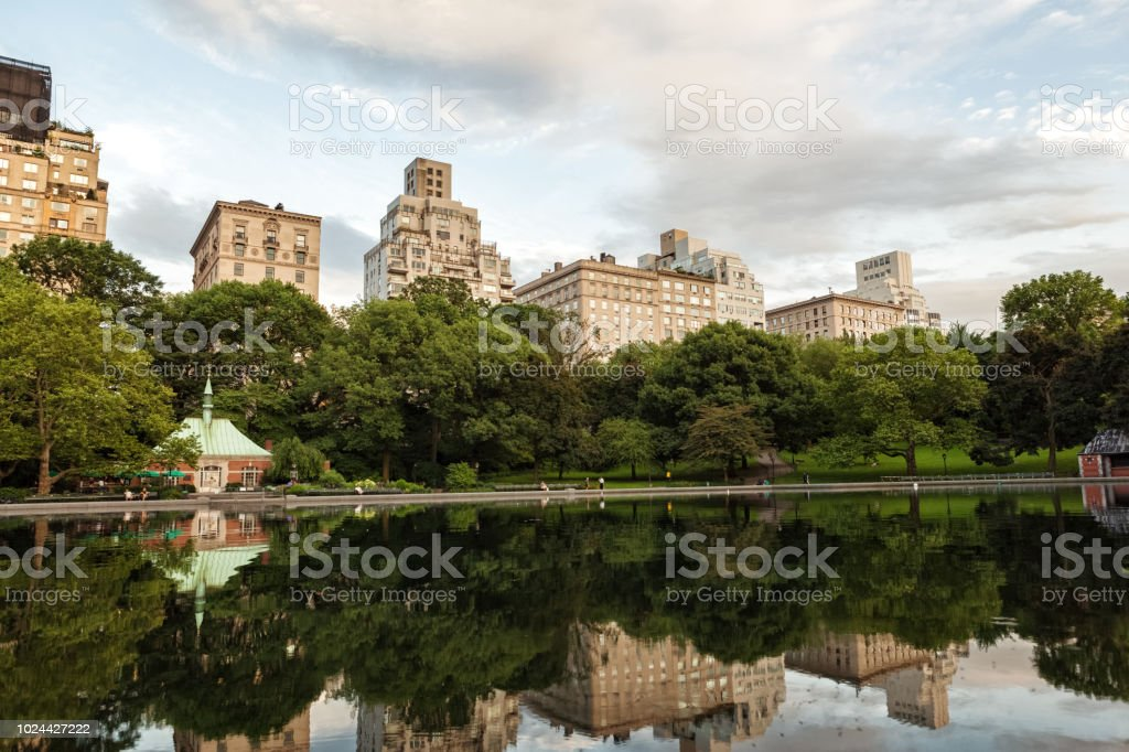 New York City reflections stock photo