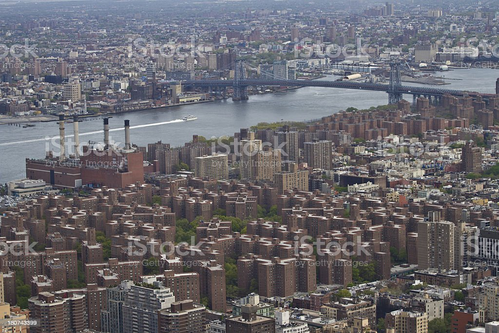 New York City river and buildings royalty-free stock photo