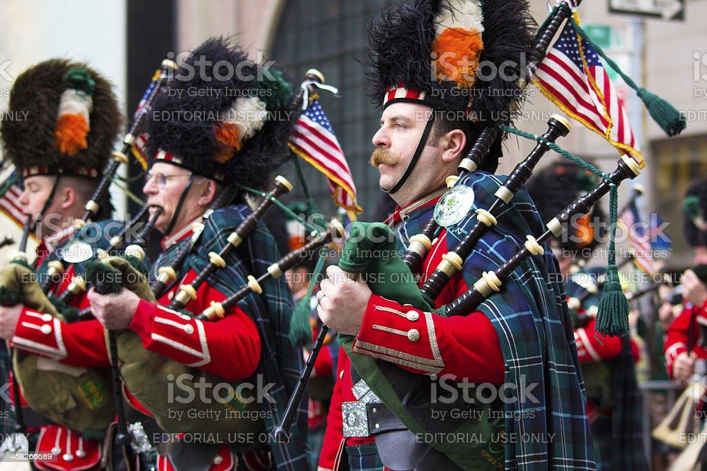 New York City Saint Patricks Day Parade stock photo