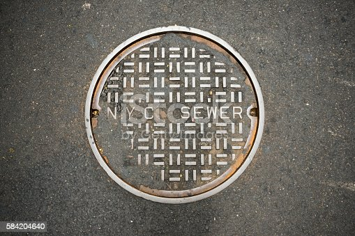 Manhole cover for the New York City sewer