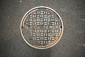 New York City sewer manhole cover