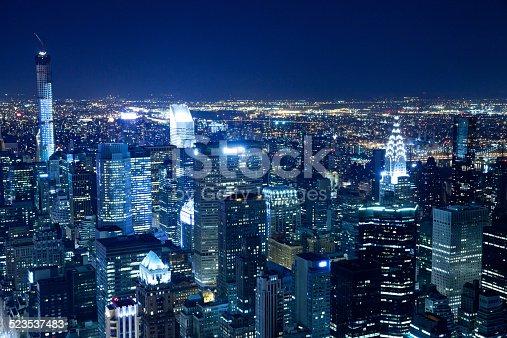 istock New York City skyline aerial view at night 523537483