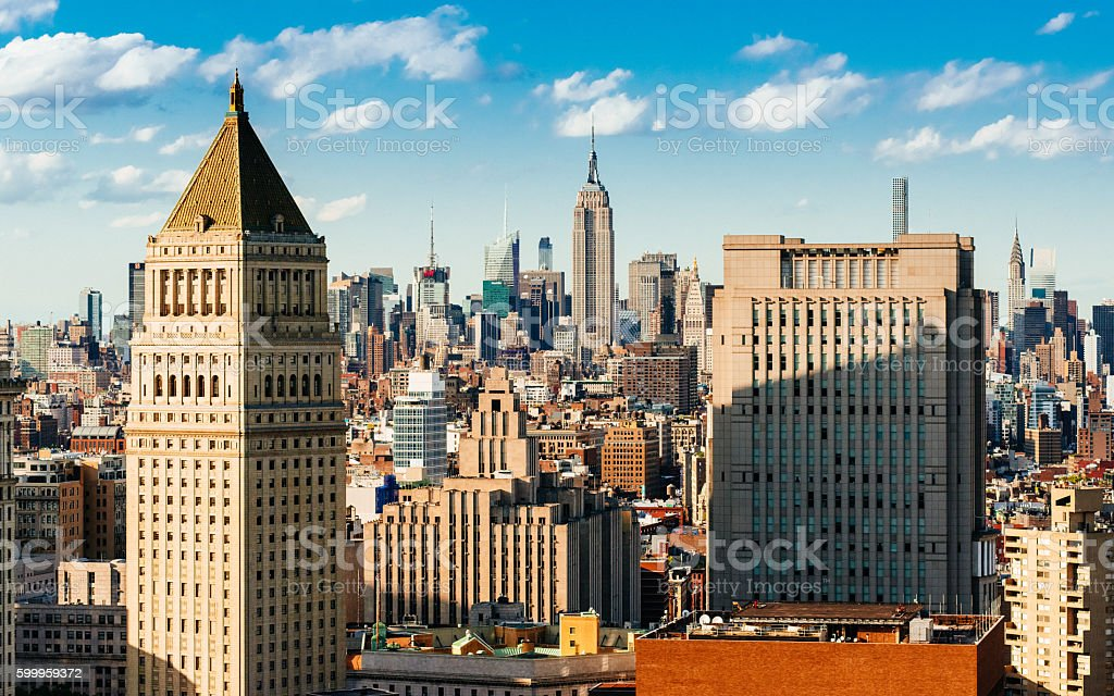 New York City Skyline Aerial View stock photo