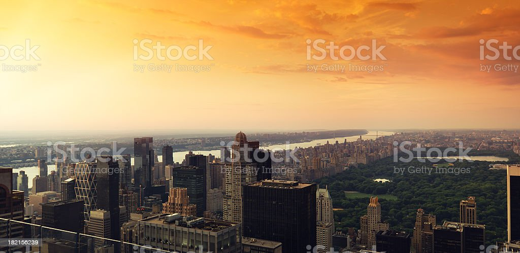 New York city skyline and central park royalty-free stock photo