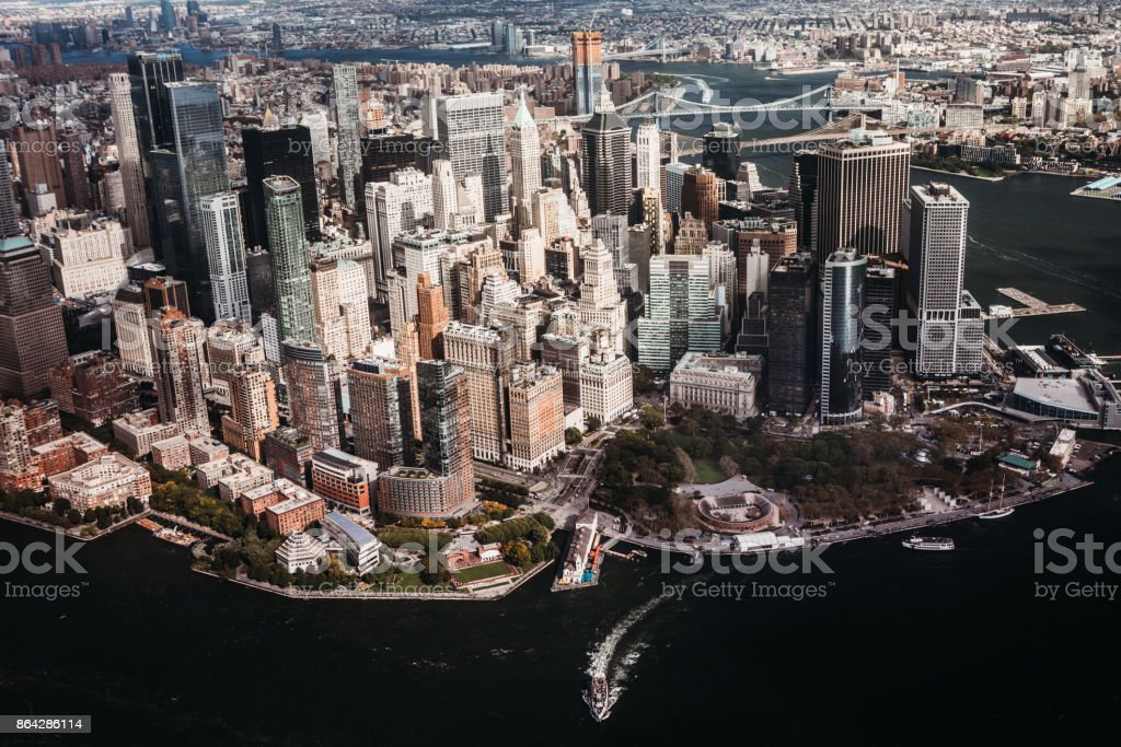 New York City Skyline and Hudson River royalty-free stock photo