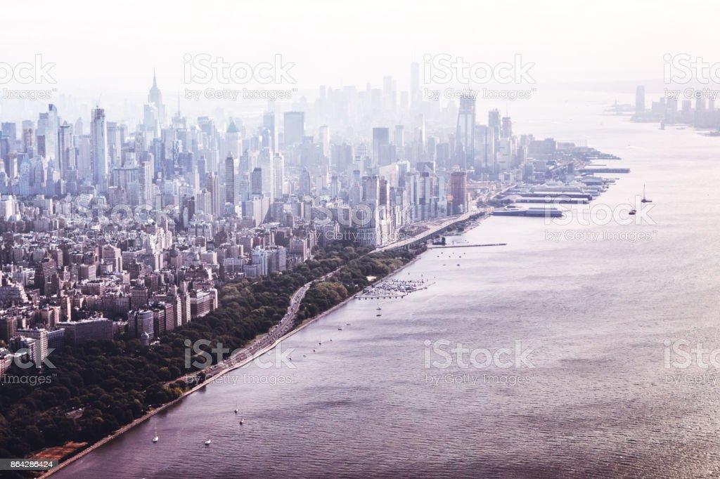 New York City Skyline and Hudson River royalty-free stock photo