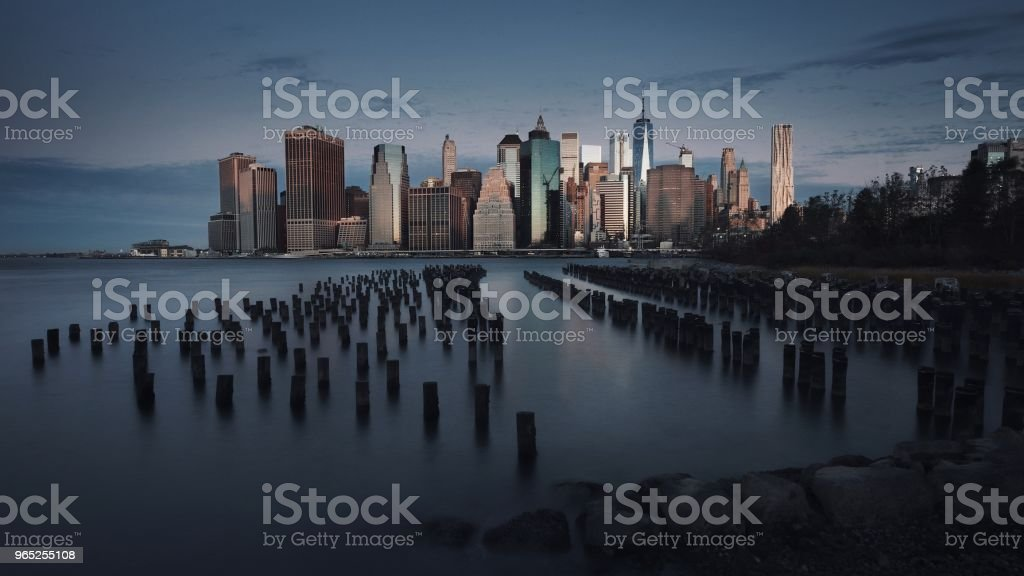 New York City Skyline at Dawn zbiór zdjęć royalty-free