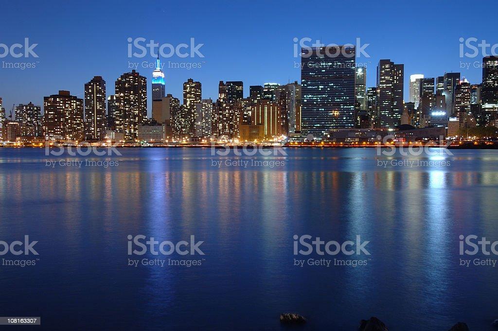 New York City Skyline at Dusk royalty-free stock photo
