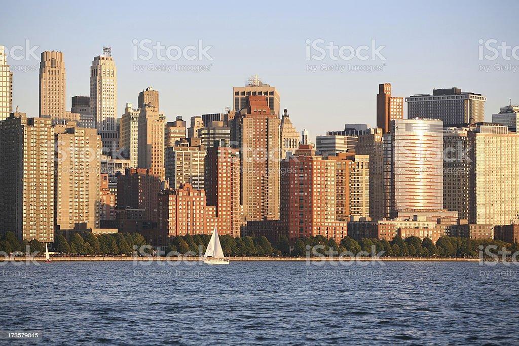 New York City Skyline At Sunset royalty-free stock photo