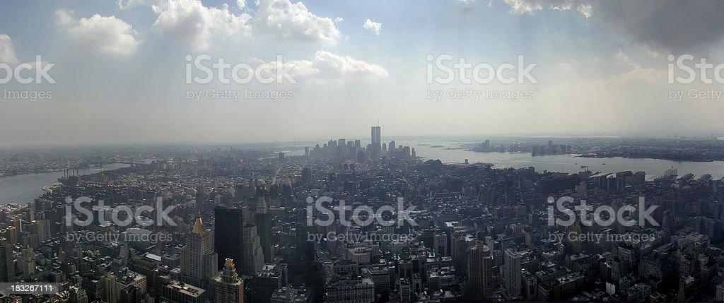 New York City Skyline, August 2001 royalty-free stock photo