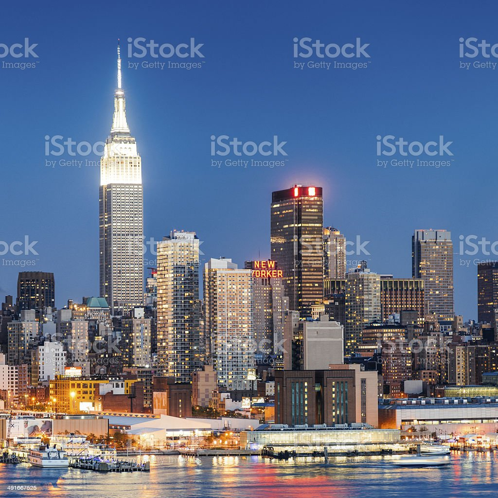 New York City Skyline Empire State royalty-free stock photo