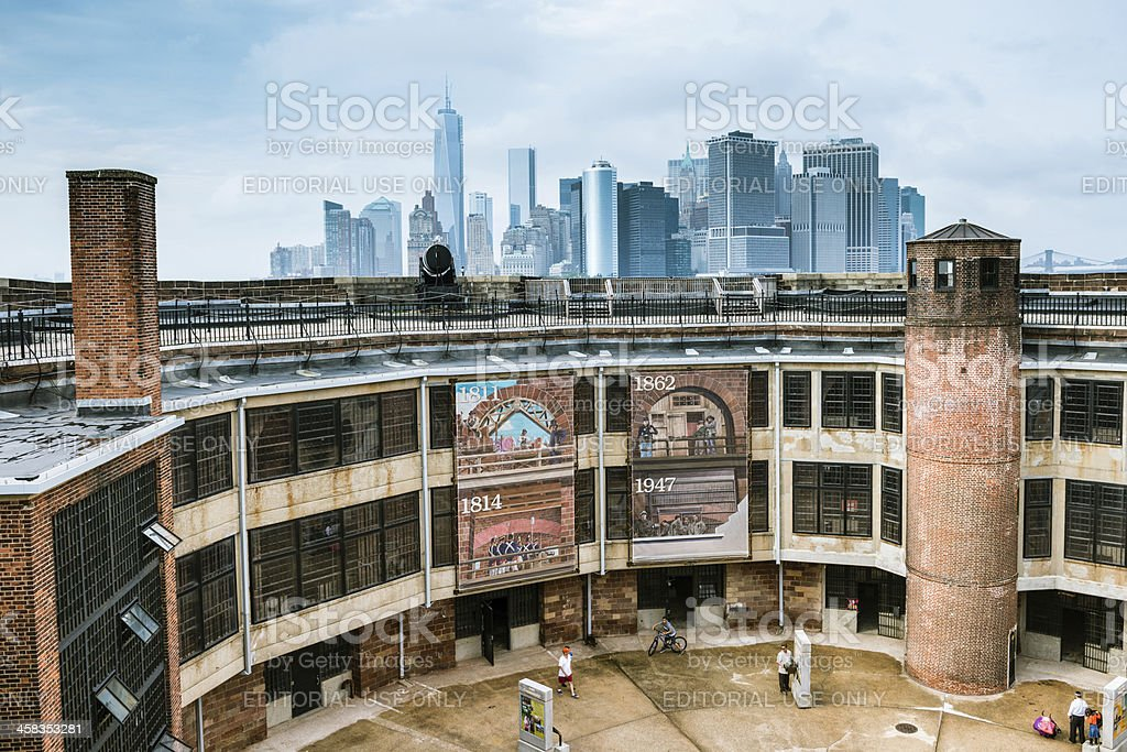 New York City Skyline form Governors Island royalty-free stock photo