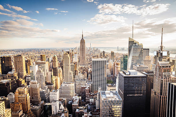 New York City Skyline - Midtown and Empire State Building New York City Skyline - Midtown and Empire State Building empire state building stock pictures, royalty-free photos & images