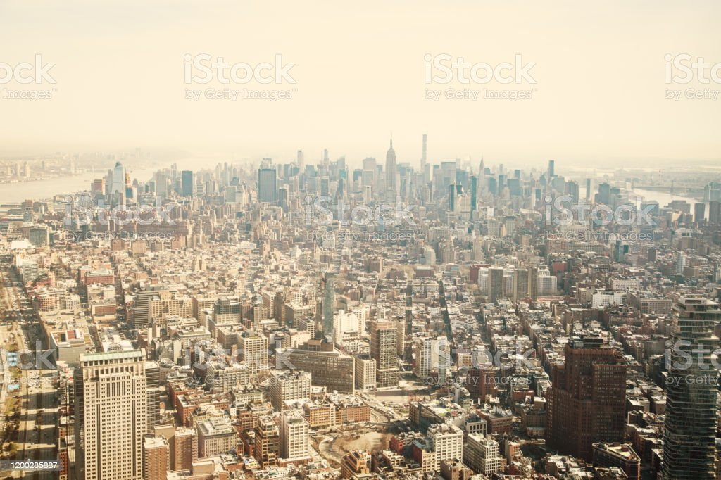 New York City Skyline - Royalty-free Architectuur Stockfoto