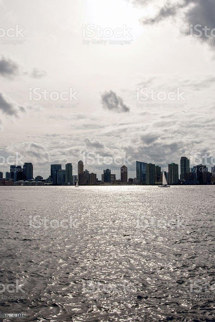 Edificios de la ciudad de Nueva York foto de stock libre de derechos