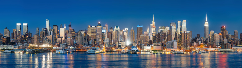 Extremely detailed panorama of New York City. 120 Megapixels.