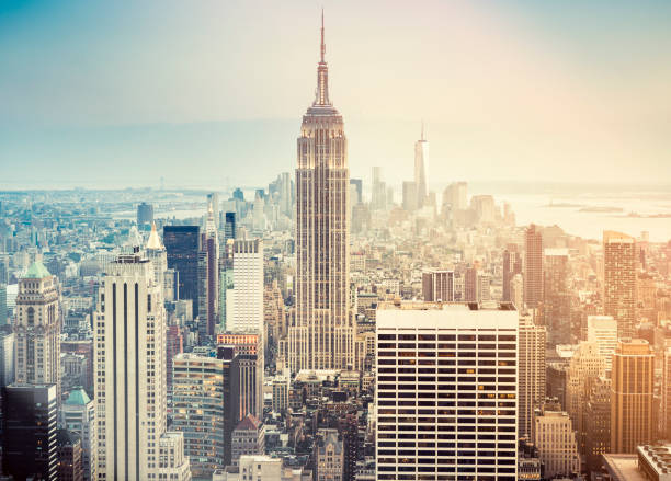 New york city skyline New york city skyline empire state building stock pictures, royalty-free photos & images