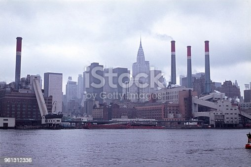 New York City, NYS, USA, 1968. New York City Skyline.