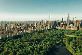 New York City skyline with Central Park