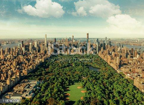 istock New York City skyline with Central Park 1187802081