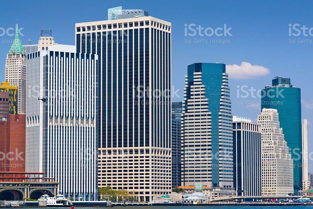 New York City Skyline with Manhattan Financial District. stock photo