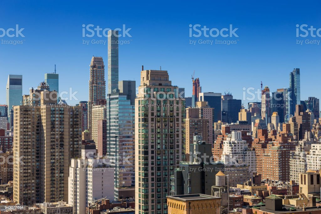 New York City Skyline With Upper East Side And Midtown Luxury