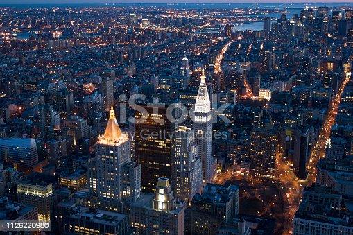 istock New York City Skyscrapers at Night 1126220980