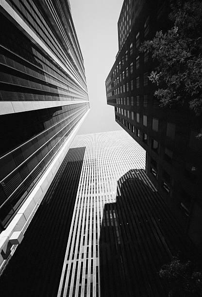 New York City Skyscrapers in B&W stock photo