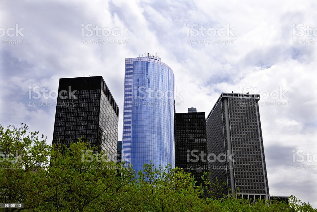 New York City skyscrapers royalty-free stock photo
