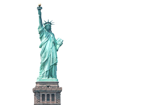 Statue of Liberty Isolated on white.
