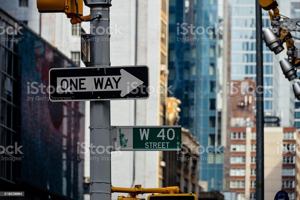 New York City Street Signs stock photo