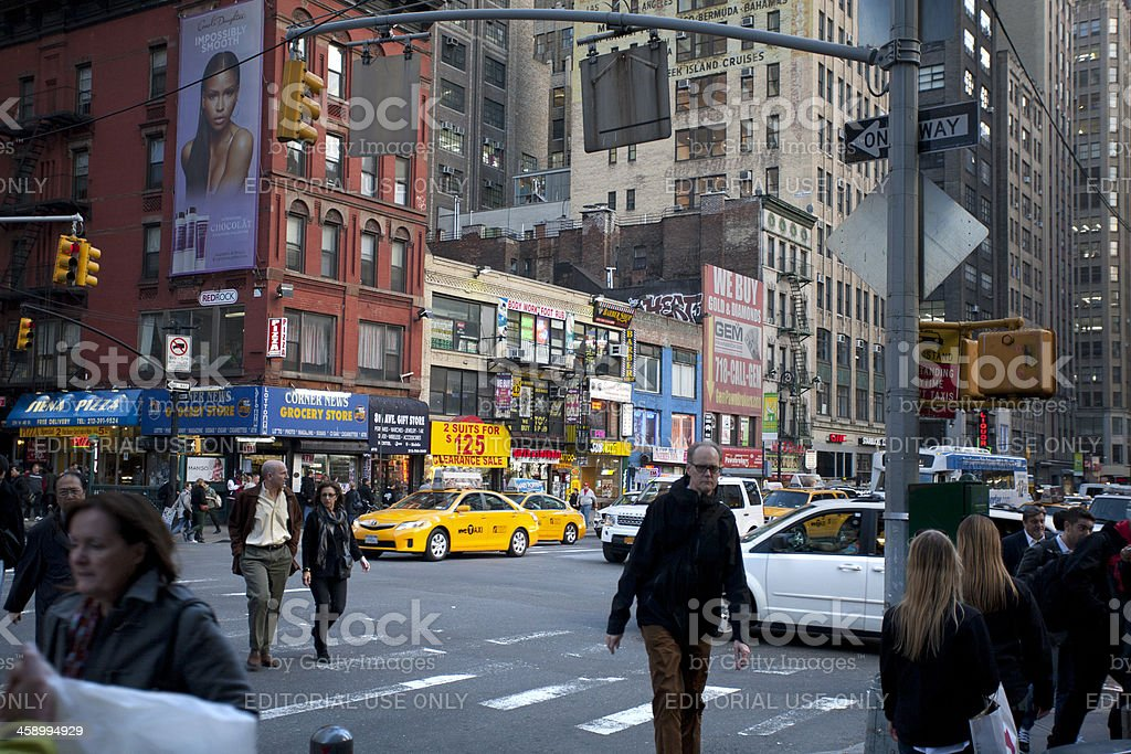 New York City street view royalty-free stock photo