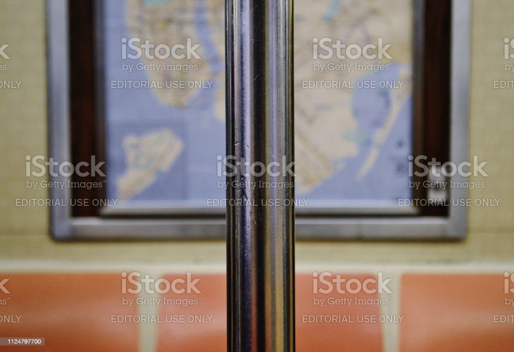 Download New York Subway Map.New York City Subway Map Inside Mta Train Car Interior Design Stock Photo Download Image Now
